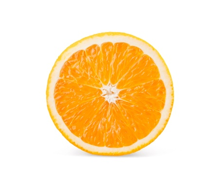 Orange slice on white background Stock Photo