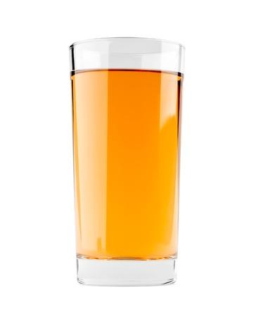 Apple juice on white background photo
