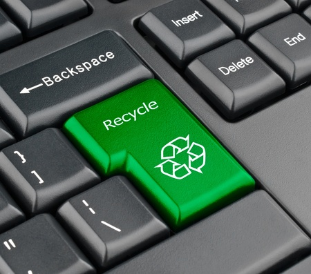 Keyboard recycle key Stock Photo - 11066940