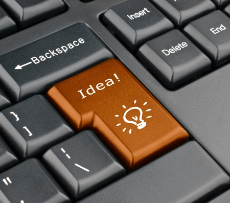 Idea bot�n del teclado photo