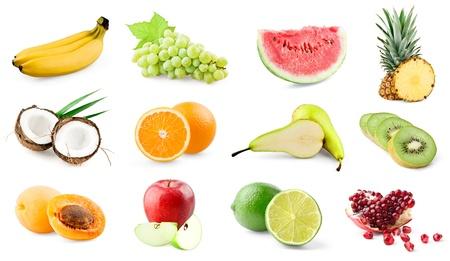 Fruits on white background photo