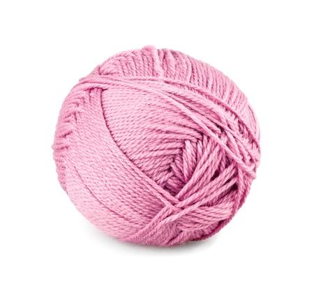 wool fiber: Bola de hilo en el fondo blanco