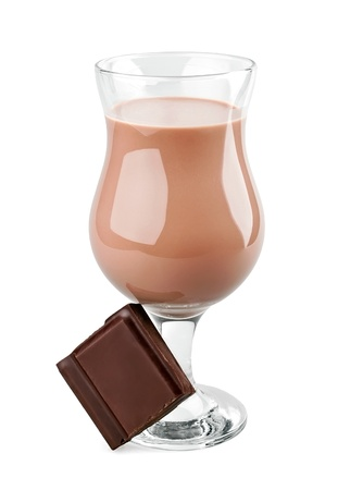 Chocolate cocktail on white backgrpund photo