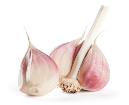 garlic clove: Garlic on white background