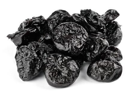 Prunes on white background Stock Photo