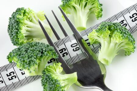 diet concept: Diet concept. Fresh broccoli on plate