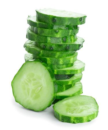 cucumber slice: Fresh slice cucumber on white background