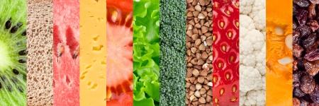 étel: Egészséges ételek háttér Stock fotó