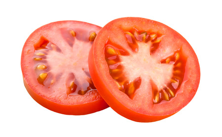 Fresh slice tomato on white background