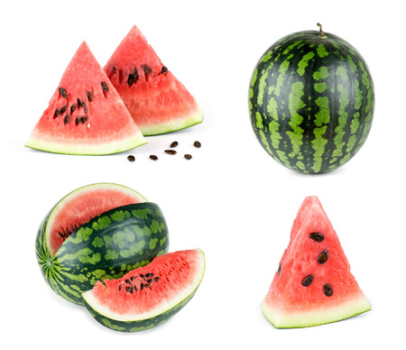 Sweet watermelon on white background Stock Photo