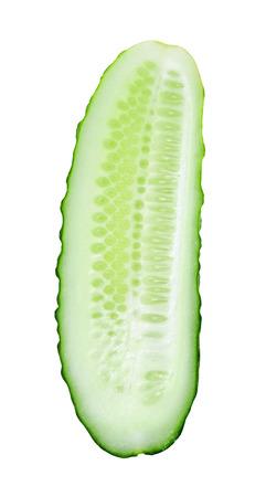 cucumber slice: Fresh slice cucumber isolated on white background Stock Photo