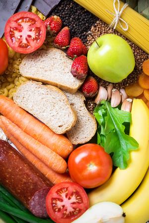 zdrowa żywnośc: Zdrowe jedzenie tło