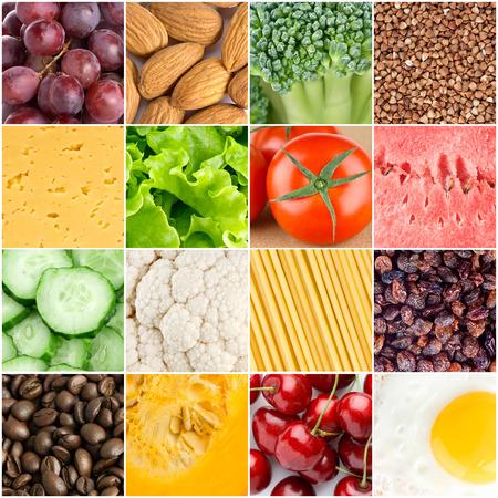 comida saludable: Saludables antecedentes de alimentos frescos Foto de archivo