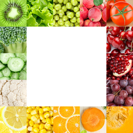 Fresh fruits and vegetables. Healthy food backgrounds