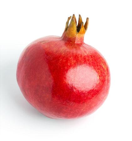Fresh pomegranate on white background photo