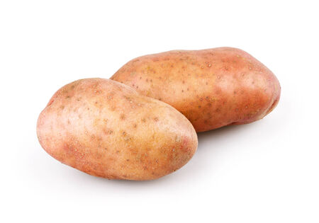 raw potato: Fresh potatoes on white background