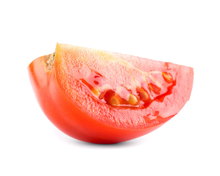 slice tomato: Fresh slice tomato on white background