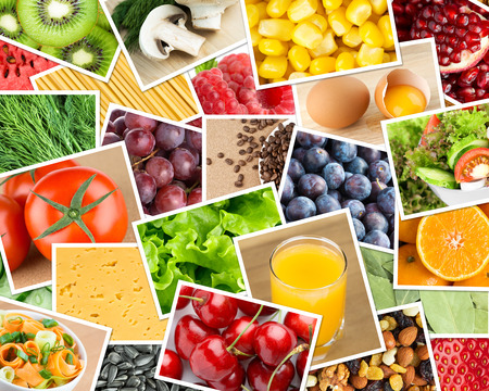 mixed fruit: Healthy food background.