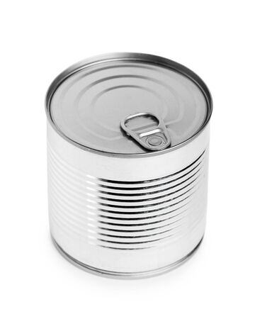 tin can: Tin can on a white background