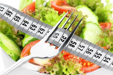 diet concept: Diet concept. Fresh vegetable salad