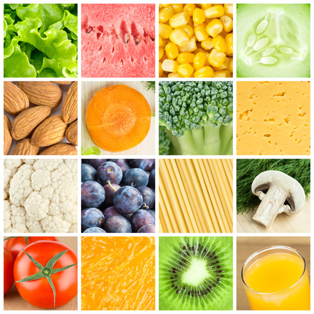 Collection of healthy food backgrounds. Food concept