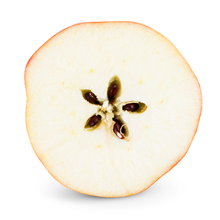 Fresh apple slice on white background Stock Photo