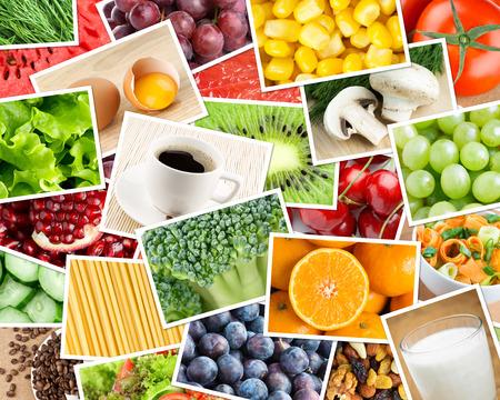 dieta sana: Fondo de alimentos saludables. Concepto del alimento