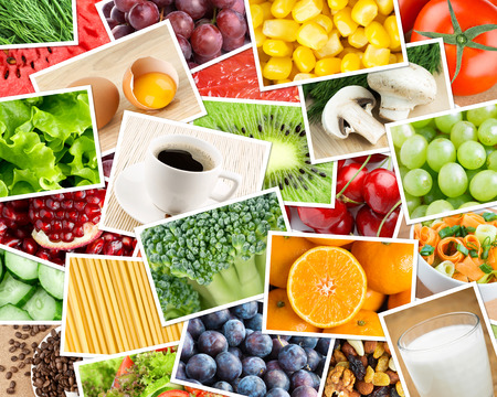 Healthy food background. Food concept Imagens
