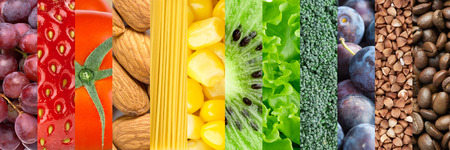 raw food: Healthy food background Stock Photo
