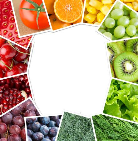 cocina saludable: Frutas y verduras frescas. Concepto de alimentos saludables