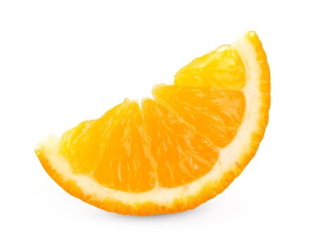orange slice: Fresh orange slice on white background