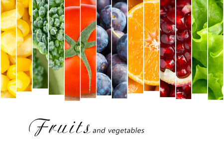 eating fruit: Fresh fruits and vegetables. Healthy food concept