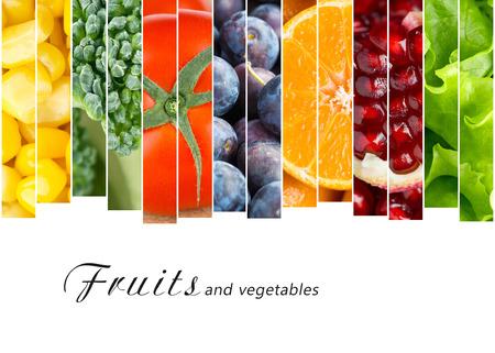 verduras: Frutas y verduras frescas. Concepto de alimentos saludables