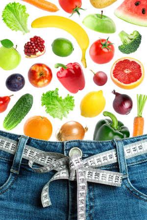 diet concept: Diet concept. Fruit and vegetables
