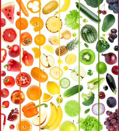 Verse groenten en fruit. Vers voedsel Stockfoto