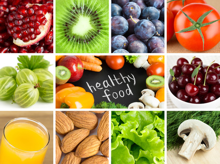 red food: Healthy food backgrounds