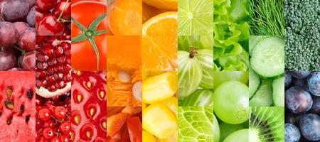 Kolor owoców, jagód i warzyw. Zdrowa żywność w tle