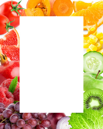 Fresh color fruits and vegetables. Food concept