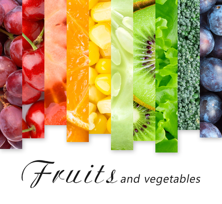 Fresh fruits and vegetables. Food concept