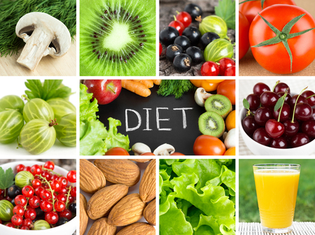 Healthy fresh food backgrounds. Diet concept