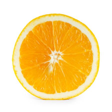 orange slice: Orange slice closeup on white background