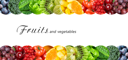 food healthy: Fresh fruits and vegetables. Healthy food concept