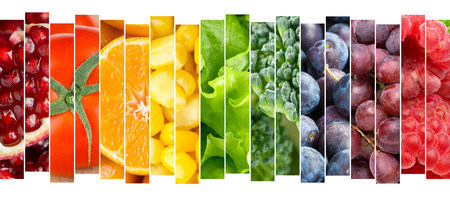 arc en ciel: Fruits et légumes concept. Nourriture fraiche