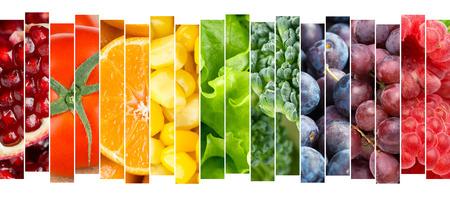 frutas: Frutas y verduras concepto. Comida fresca Foto de archivo