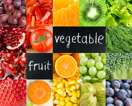 of fruit: Healthy fresh color food. Fruits and vegetables background