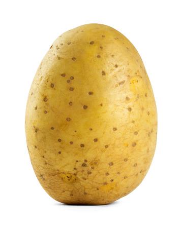 Aardappel close-up op een witte achtergrond