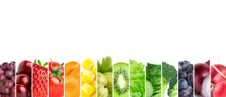 Fresh color fruits and vegetables. Fresh food Stock Photo - 49133664