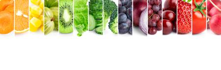 frutas: frutas y verduras de colores frescos Foto de archivo