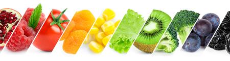 comiendo frutas: Concepto de alimentos saludables. alimento color fresco Foto de archivo
