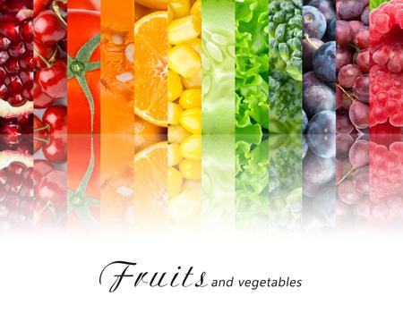 Frutas y verduras frescas. Concepto de alimentos saludables Foto de archivo
